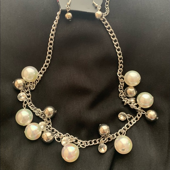 Iridescent Pearl Necklace